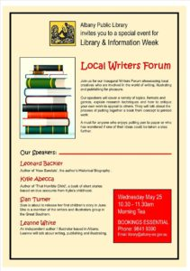 Local Writers Forum